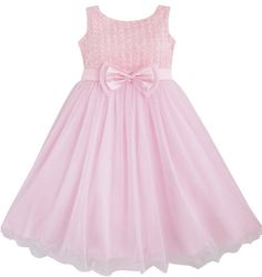Girls Dress Rose Flower Pink Wedding Bridesmaid Child Clothes Size New Pink Party Dresses, Girls Pageant Dresses, 2015 Wedding Dresses, Wedding Bridesmaid Dresses, Flower Dresses, Dress Party, Kids Outfits Girls, Girl Outfits, Princess Girl