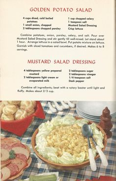 Vintage Recipes, 1950s Salads                                                                                                                                                                                 More