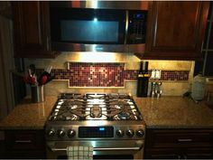 Pomegranate Blend Kitchen Backsplash