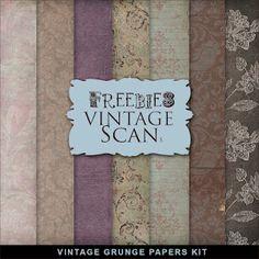 ❥ Freebies Vintage Papers Kit