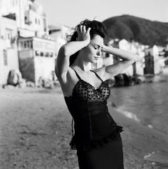 Photographer Michel Perez captures the essence of Sicilian life in the 1960s for Bambi magazine. Perez's photo series, A Sicilian Adventure, features Romanian model Catrinel Menghia in captivating scenes. Browsing through the photos, I feel like I'm looking at stills from a Marcello Mastroianni and Sophia Loren film. The outfits are period-appropriate and Menghia's assets are flaunted in the same fashion as Loren in her most popular Italian cinematic roles.