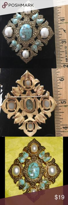 """Vintage Marked Sarah Coventry Brooch 3"""" tall and 2.5 wide Sarah Coventry Jewelry Brooches"""