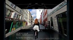 LE PETIT TOUR | PARIS - COPENHAGEN an interactive video installation as a virtual and simultaneous bike ride in two cities.  by jean-marie babonneau + frédéric dilé
