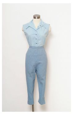 Retro Fashion 50s, 1950s Fashion Women, 70s Fashion, Denim Fashion, Vintage Fashion, 1950s Fashion Pants, Fashion 2020, Korean Fashion, Fashion Brands