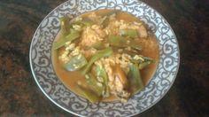 Arroz caldoso con judías verdes y pollo