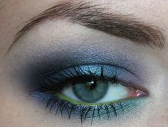 sapphire eyeshadow look