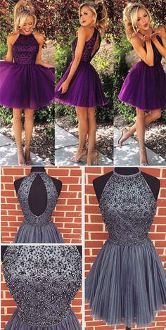 2016 hoco dresses,purple hoco dresses,grey hoco dresses,halter hoco dresses,cheap hoco dresses,cheap prom dresses for teens
