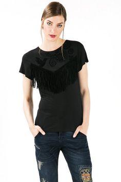 T-shirt gris à manches courtes  | Desigual.com D
