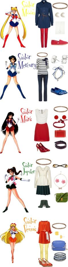 """Sailor Moon"" by kirstylumos ❤ liked on Polyvore"