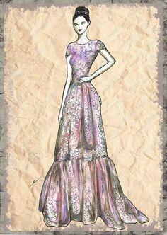 Elisenda Rico fashion illustration - ZUHAIR MURAD