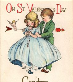 Sweet Vintage Valentine Greetings Postcard 1919 by VintagenutsInc