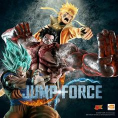 While we've already seen Naruto's Six Paths Sage Mode and Luffy's Gear Fourth form in Jump Force, we finally got a look at Goku's Super Saiyan Blue form from Dragon Ball Super for the upcoming title. Otaku Anime, All Anime, Anime Manga, Anime Naruto, Anime Crossover, Goku Super, Super Saiyan, Blade Runner, Luffy Gear 4