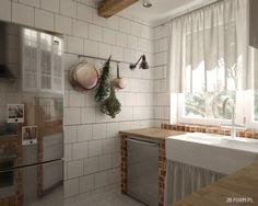 Drewno i czerwone cegły w rustykalnej kuchni - Lovingit.pl