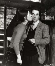 "Jean-Pierre Léaud, Claude Jade in ""Baisers volés"" (1968). Country: France. Director: François Truffaut."