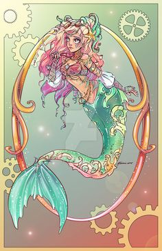 Little Mermaid by NoFlutter.deviantart.com on @DeviantArt