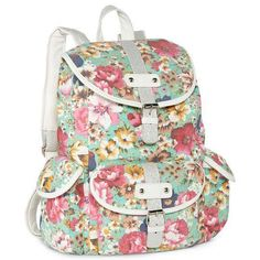 Floral backpack......so cute! b469bc2001614