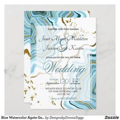 Modern Wedding Invitations, Wedding Invitation Design, Zazzle Invitations, Exactly Like You, Agate Geode, Paper Design, Card Making, Watercolor, Group