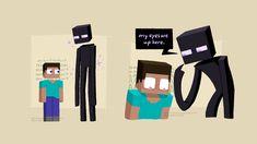 👾👀, been thinking about 𝓶𝓲𝓷𝓮𝓬𝓻𝓪𝓯𝓽 lately Minecraft Comics, Minecraft Mobs, Minecraft Drawings, Minecraft Fan Art, Minecraft Skins, Minecraft Stuff, Minecraft Humor, Mine Minecraft, Minecraft Creations