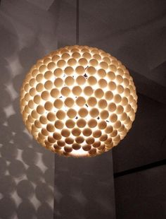 ping ppng ball lights | upcycled ping pong ball light | Small things to do