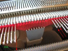 machine knitting - Short-rowing part 3: both sides at once