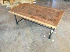 Rustic Industrial Coffee Table / Farmhouse Table / Industrial Table / Rustic Table