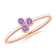Angara Pave Set Diamond Hexagon Solitaire Ring with Milgrain tes6O8eFP