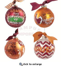 Shop our selection of Virginia Tech holiday products such as ornaments, decorations, gift wrapping supplies, and cards. Virginia Tech Game, Virginia Tech Hokies, Diy Christmas Ornaments, Christmas Bulbs, Christmas Decorations, Seasonal Decor, Holiday Gifts, Crafting, College