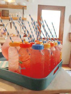 Baby Bottle Drinks - Fun Baby Shower Ideas  - Photos