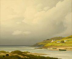 Pierre de Clausade (1910-1976) Une baie en Bretagne Huile sur toile 38x45