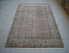 5'4''x8'7'' Vintage Area Rug Distressed Oushak Rug by RugToGo