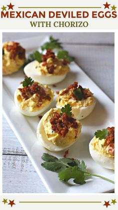 Deviled eggs are hard boiled eggs where the yolk is mixed with mayonnaise, mustard, vinegar, salt and pepper. A little sprinkle of paprika on top helps make these the best deviled eggs recipe. Devilled Eggs Recipe Best, Best Deviled Eggs, Southern Deviled Eggs, Healthy Egg Recipes, Mexican Food Recipes, Healthy Snacks, Cooking Recipes, Kid Snacks, Cinco De Mayo