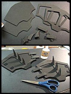 Cosplay foam templates