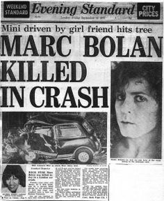 marc bolan rip  t-rex The Day The Music Died!!!