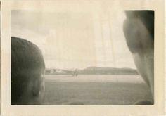 Vintage bw snapshot- airport