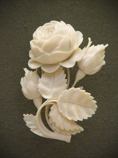 Carved ivory bouquet fashion love
