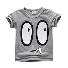 59fd7fa1bb8 Babyinstar Cute Boys t shirt for Summer Wear Cartoon Eys Pattern Children s  Clothing Baby Outerwear 2017 New Cotton t-shirts