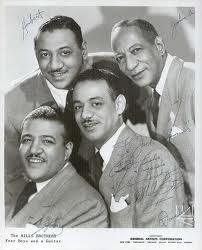 The Mills Brothers formed in Piqua OH, performed 1928-1982. Top left, John Jr., (1910-1936), pneumonia. Top right, Herbert (1912-1989). Lower right, Harry Flood (1913-1982), diabetes. Donald (1882-1967), pneumonia. First performed as 4 Kings of Harmony. First African-Americans to give a command performance for British royalty, King George V and Queen Mary.