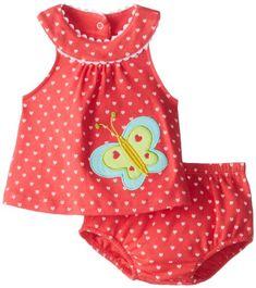 Cutie Pie Baby-Girls Newborn 2 Piece Bubble Dress with Bloomer-Butterfly
