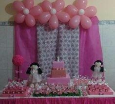 Mesa decorada bonecas