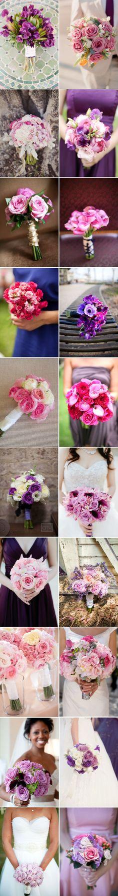 Vários em tons de rosa e lilás