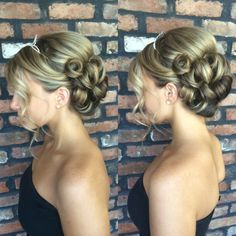 Updo wedding hair (hair by SAMM) Fancy Hairstyles, Wedding Hairstyles, Hairdos, Wedding Updo, Wedding Pics, Wedding Ideas, Princess Sweet 16, Quinceanera Themes, Hair Blog
