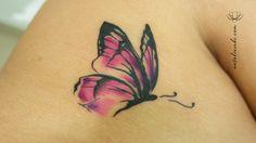 tatuagem de borboleta em aquarela - Pesquisa Google
