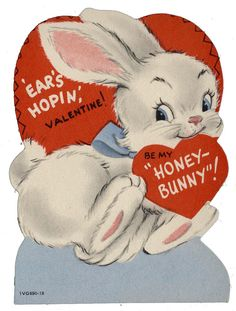 vintage valentine - honey bunny