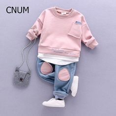 Cheap children set, Buy Quality kids clothing set directly from China set winter Suppliers: CNUM Autumn Kids Clothing Sets Children's Wear Cotton Casual Tracksuits Kids Clothes Sports 2 Pieces Suit Children Sets Winter Baby Girl Fashion, Toddler Fashion, Kids Fashion, Kids Sportswear, Baby Set, Cute Baby Clothes, Baby Wearing, Kids Wear, Children Wear
