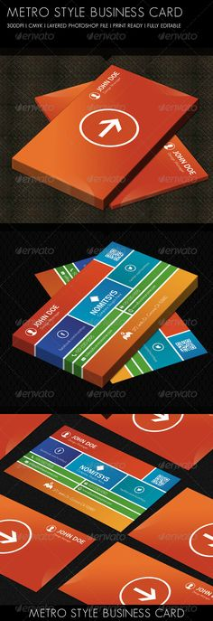 Computer repair retailer colorful tiles creative business card buy metro style business card by jimdesigns on graphicriver metro style business card layered psd file fully editable inch bleed and trim marks 300 dpi wajeb Gallery