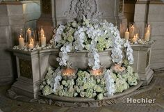 Roses, hydrangea and candles...my favourite!