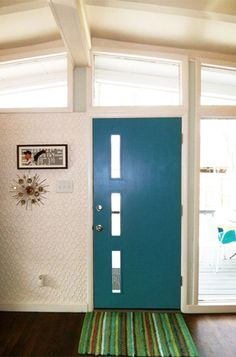 I need this front door!  Crestview Doors - Modern Charlotte's Perfect Atomic Ranch - Case Studies - Browse