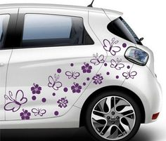 Bigger Wizz Flower Car Stickers Hippy Motors Car Stickers Vinyl - Decals and stickers for cars