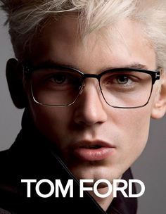 French model Arthur Gosse goes blond for the newest campaign from American designer Tom Ford. Photographed by Inez & Vinoodh, Arthur fronts Tom Ford's… Tom Ford Glasses, New Glasses, Tom Ford Eyewear, Men's Eyewear, Fashion Eyewear, Toms, Men Eyeglasses, Male Eyes, Portraits
