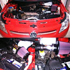 Cold Air Intake VW Gol Trend Short  #lethalperformancearg  #knfilter Vw Gol, Nerf, Volkswagen, Cold, Autos